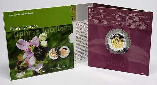 Lieferumfang:Luxemburg : 5 Euro Orchidee Hummel-Ragwurz  2012 PP