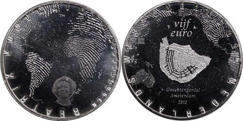 Lieferumfang:Niederlande : 5 Euro Amsterdamer Grachtengürtel  2012 vz/Stgl.