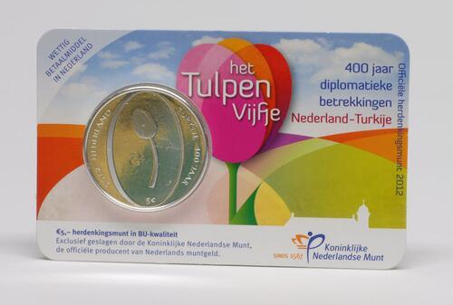 Lieferumfang:Niederlande : 5 Euro Tulpe  2012 Stgl.