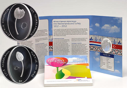 Lieferumfang:Niederlande : 5 Euro Tulpe  2012 PP