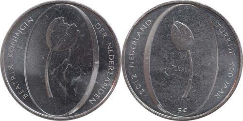 Lieferumfang:Niederlande : 5 Euro Tulpe  2012 vz/Stgl.