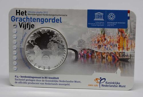 Lieferumfang:Niederlande : 5 Euro Amsterdamer Grachtengürtel  2012 Stgl.