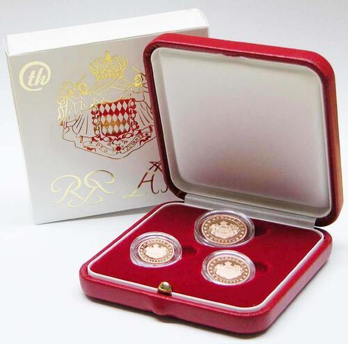 Lieferumfang:Monaco : 8 Cent Set aus 1+2+5 Cent in Originaletui  2005 PP KMS Monaco 2005 PP