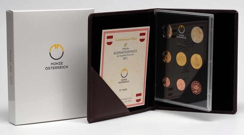 Lieferumfang:Österreich : 3,88 Euro Originalsatz der Österreichischen Münze  2011 PP KMS Österreich 2011 PP