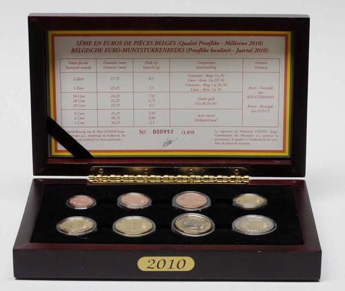 Lieferumfang:Belgien : 3,88 Euro original Kursmünzensatz der belgischen Münze  2010 PP KMS Belgien 2010 PP