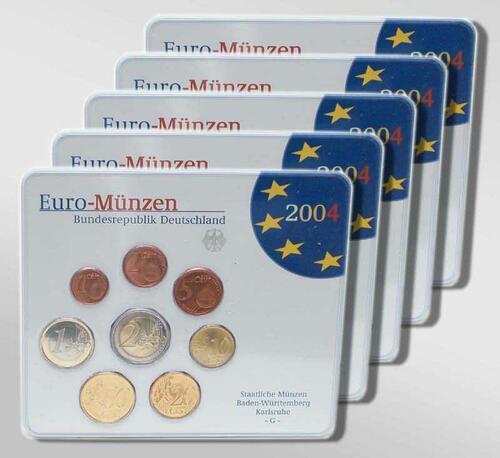 """Lieferumfang:Deutschland : 19,4 Euro kompletter Satz in Originalverpackung """"Bad Homburg""""  2004 Stgl."""