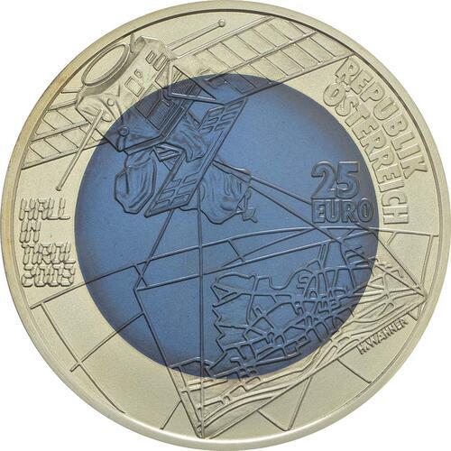 Rückseite:Österreich : 25 Euro 700 Jahre Stadt Hall  2003 Stgl.