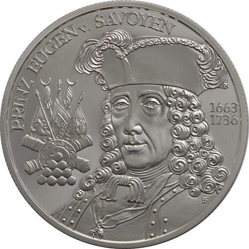 Vorderseite:Österreich : 20 Euro Barockzeit / Prinz Eugen  2002 PP