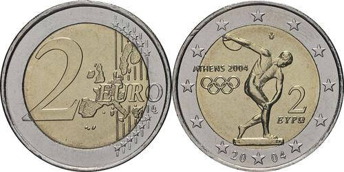 Lieferumfang:Griechenland : 2 Euro Olympiade Athen  2004 bfr