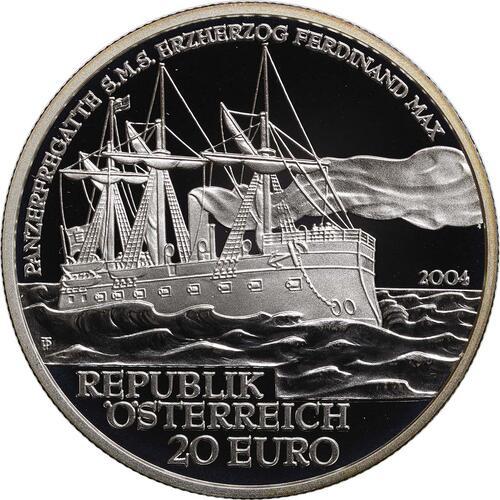 Rückseite:Österreich : 20 Euro SMS. Ferdinand Max  2004 PP