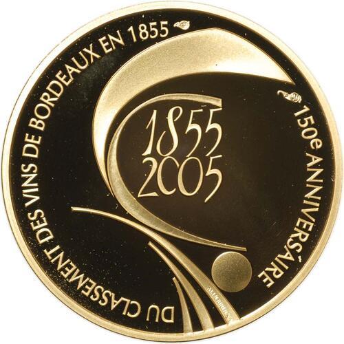 Rückseite:Frankreich : 10 Euro Bordeaux Wein inkl. Originaletui und Zertifikat  2005 PP