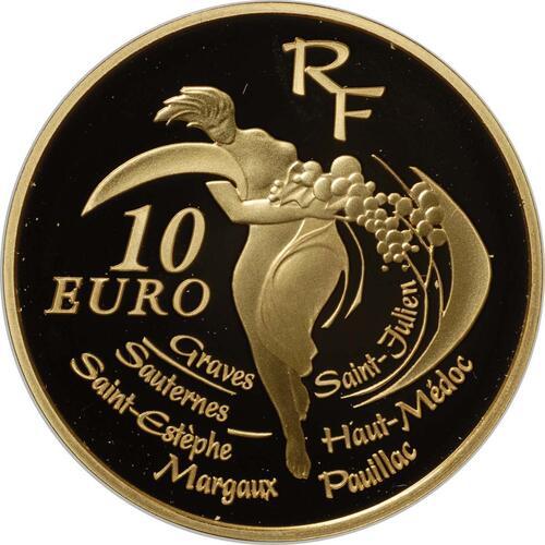 Vorderseite:Frankreich : 10 Euro Bordeaux Wein inkl. Originaletui und Zertifikat  2005 PP