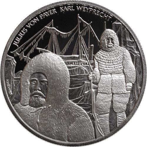 Vorderseite:Österreich : 20 Euro Polarexpedition Tegetthoff  2005 PP