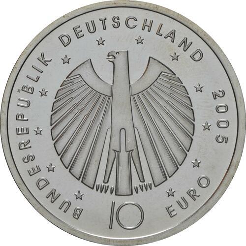 Rückseite:Deutschland : 10 Euro III. Ausgabe FIFA Fußball WM Deutschland  2006 Buchstabe unserer Wahl  2005 bfr