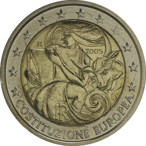 Rückseite :Italien : 2 Euro Europäische Verfassung  2005 bfr