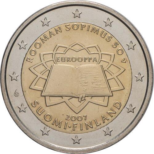 Rückseite:Finnland : 2 Euro Römische Verträge  2007 bfr