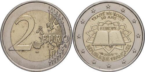 Lieferumfang:Frankreich : 2 Euro Römische Verträge  2007 bfr