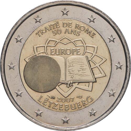 Rückseite:Luxemburg : 2 Euro Römische Verträge  2007 bfr