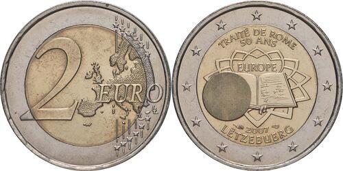 Lieferumfang:Luxemburg : 2 Euro Römische Verträge  2007 bfr