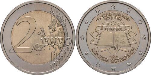 Lieferumfang:Österreich : 2 Euro Römische Verträge  2007 bfr