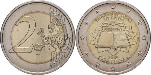 Lieferumfang:Portugal : 2 Euro Römische Verträge  2007 bfr