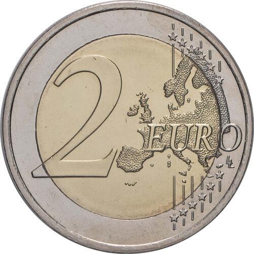 Vorderseite:Slowenien : 2 Euro Römische Verträge  2007 bfr 2 Euro rimska-pogodoba; 2 Euro Slowenien 2007