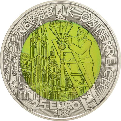 R�ckseite :�sterreich : 25 Euro Faszination Licht  2008 Stgl. �sterreich 25 Euro Niob 2008