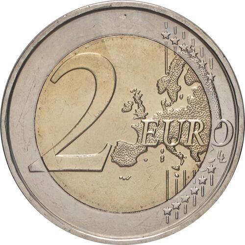 Vorderseite:Belgien : 2 Euro 10 Jahre Euro  2009 bfr