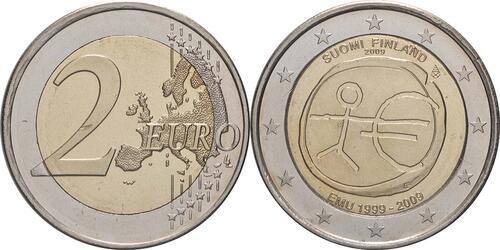 Lieferumfang:Finnland : 2 Euro 10 Jahre Euro  2009 bfr