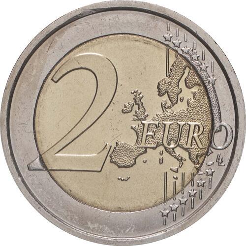 Vorderseite:Italien : 2 Euro 10 Jahre Euro  2009 bfr