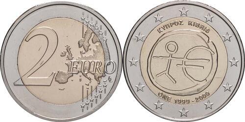 Lieferumfang:Zypern : 2 Euro 10 Jahre Euro  2009 bfr