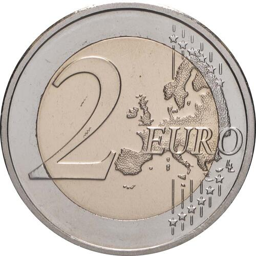 Vorderseite:Zypern : 2 Euro 10 Jahre Euro  2009 bfr