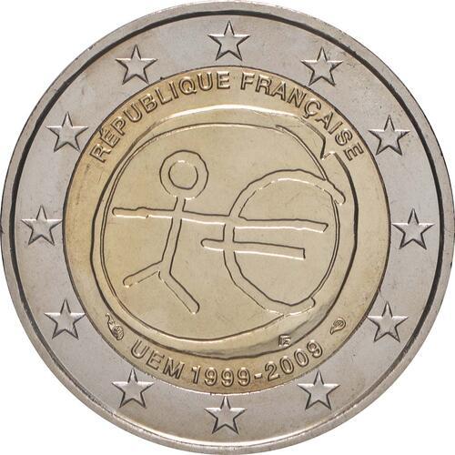 Rückseite:Frankreich : 2 Euro 10 Jahre Euro  2009 bfr
