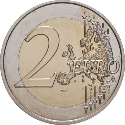 Vorderseite:Frankreich : 2 Euro 10 Jahre Euro  2009 bfr