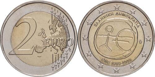 Lieferumfang:Griechenland : 2 Euro 10 Jahre Euro  2009 bfr