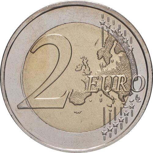 Vorderseite:Griechenland : 2 Euro 10 Jahre Euro  2009 bfr