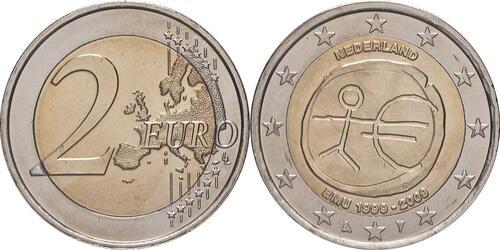 Lieferumfang:Niederlande : 2 Euro 10 Jahre Euro  2009 bfr
