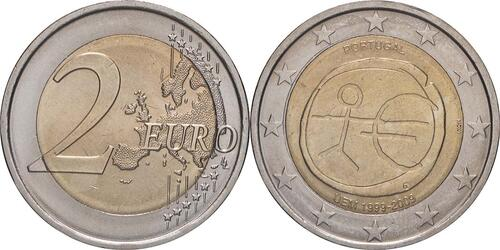 Lieferumfang:Portugal : 2 Euro 10 Jahre Euro  2009 bfr