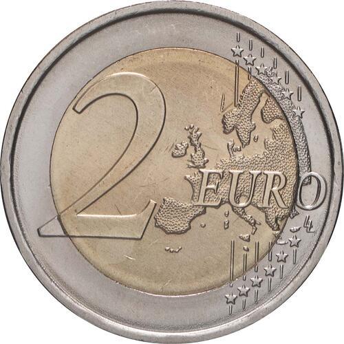 Vorderseite:Portugal : 2 Euro 10 Jahre Euro  2009 bfr