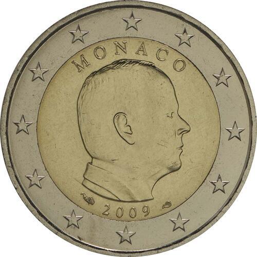 Rückseite:Monaco : 2 Euro Albert  2009 Stgl.