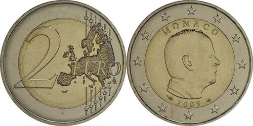 Lieferumfang:Monaco : 2 Euro Albert  2009 Stgl.