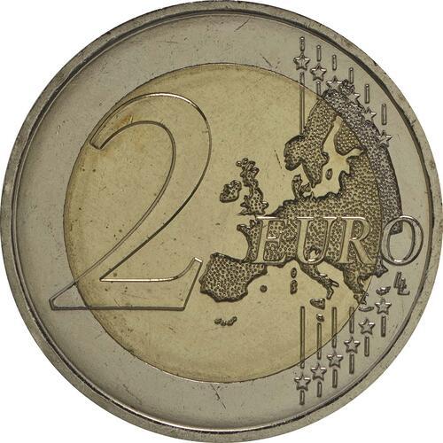 Vorderseite:Monaco : 2 Euro Albert  2009 Stgl.