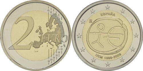 Lieferumfang :Spanien : 2 Euro 10 Jahre Euro  2009 PP
