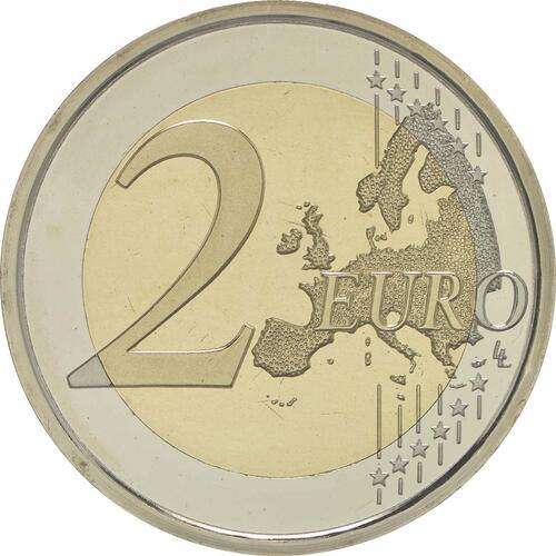 Vorderseite:Spanien : 2 Euro 10 Jahre Euro  2009 PP
