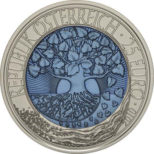 Rückseite:Österreich : 25 Euro Erneuerbare Energie  2010 Stgl. 25 Euro Niob 2010
