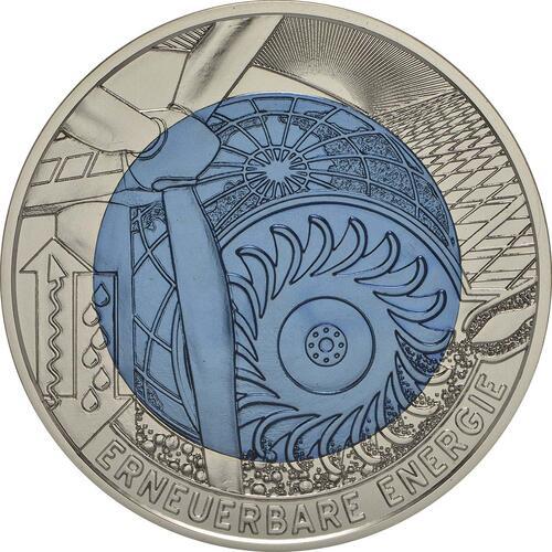 Vorderseite:Österreich : 25 Euro Erneuerbare Energie  2010 Stgl. 25 Euro Niob 2010