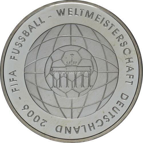 Vorderseite:Deutschland : 10 Euro IV. Ausgabe FIFA Fußball WM Deutschland  2006  2006 bfr
