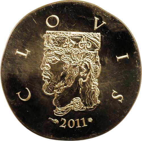 Vorderseite:Frankreich : 50 Euro Clovis  2011 Stgl.