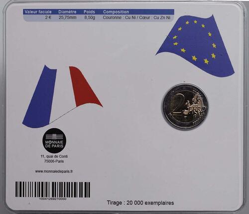 Rückseite:Frankreich : 2 Euro Musik Festival  2011 Stgl.