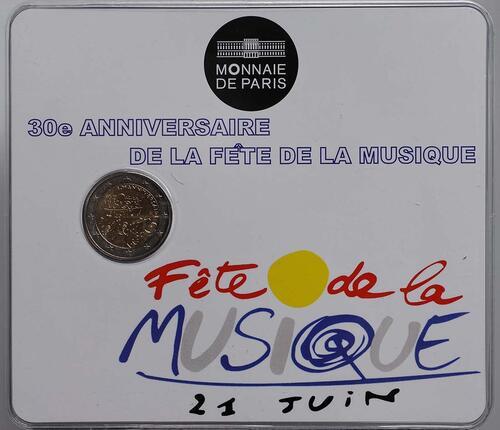 Vorderseite:Frankreich : 2 Euro Musik Festival  2011 Stgl.